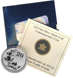 20$ FOR 20$ -  COMMEMORATIVE MAPLE LEAF -  2011 CANADIAN COINS 01