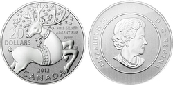 20$ FOR 20$ -  THE MAGICAL REINDEER -  2012 CANADIAN COINS 06