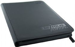 20-PAGE PORTFOLIO -  20 PAGES BLACK ZIPFOLIO XENOSKIN THAT HOLDS 360 CARDS