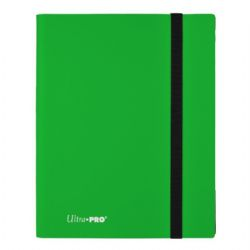 20-PAGE PORTFOLIO -  20 PAGES GREEN PRO-BINDER THAT HOLDS 360 CARDS