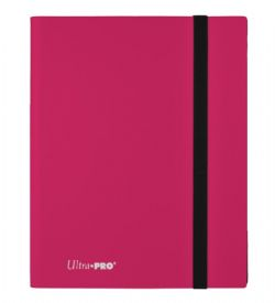 20-PAGE PORTFOLIO -  20 PAGES PINK PRO-BINDER THAT HOLDS 360 CARDS
