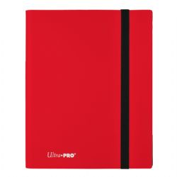 20-PAGE PORTFOLIO -  20 PAGES RED PRO-BINDER THAT HOLDS 360 CARDS
