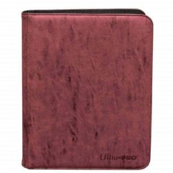 20-PAGE PORTFOLIO -  20 PAGES SUEDE RUBY PRO-BINDER THAT HOLDS 360 CARDS