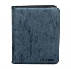20-PAGE PORTFOLIO -  20 PAGES SUEDE SAPHIRE PRO-BINDER THAT HOLDS 360 CARDS