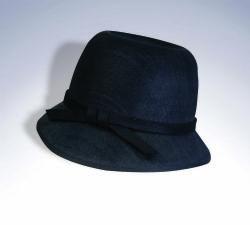 20'S -  BLACK FLAPPER HAT (ADULT)
