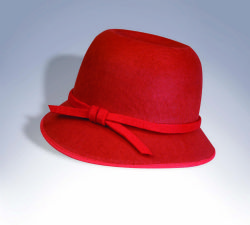 20'S -  RED FLAPPER HAT (ADULT)