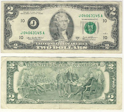 2003 -  UNITED STATES 2-DOLLAR BILL