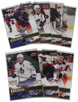 2007-08 HOCKEY -  UPPER DECK - CLUTCH PERFORMERS (7 CARDS)