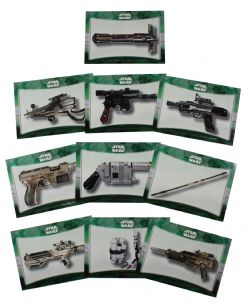 2015 STAR WARS -  TOPPS - FORCE AWAKENS WEAPONS SET (10 CARDS)