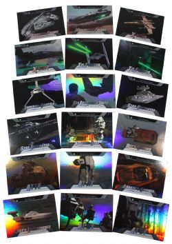 2016 STAR WARS -  TOPPS - EVOLUTION OF VEHICULES AND SHIPS SET (18 CARDS)