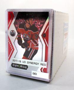 2017-18 HOCKEY -  UD SYNERGY RED SET (90 CARDS)