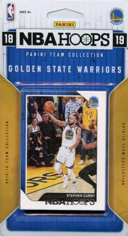 2018-19 BASKETBALL -  PANINI NBA HOOPS GOLDEN STATE WARRIORS TEAM SET (9 CARDS)
