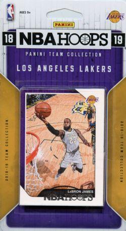 2018-19 BASKETBALL -  PANINI NBA HOOPS LOS ANGELES LAKERS TEAM SET (11 CARDS)