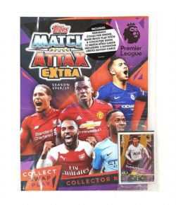 2018-19 SOCCER -  TOPPS MATCH ATTAX EXTRA EPL STARTER PACK (ALBUM + 12 CARDS)
