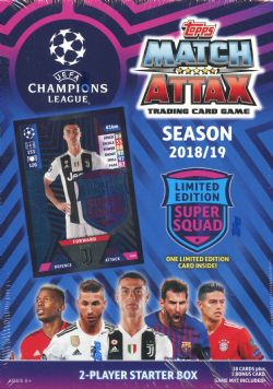 2018-19 SOCCER -  TOPPS MATCH ATTAX UEFA 2-PLAYER STARTER BOX (B38+1)