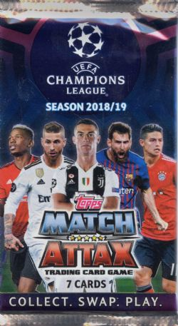 2018-19 SOCCER -  TOPPS MATCH ATTAX UEFA (P7/B50)