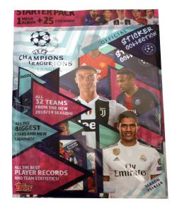 2018-19 SOCCER -  TOPPS UEFA CHAMPION LEAGUE STICKERS STARTER PACK (ALBUM + 25 STICKERS)