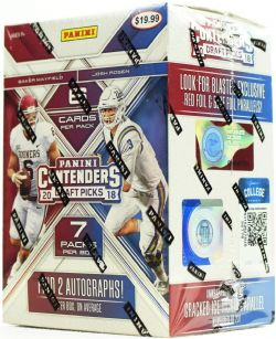 2018 FOOTBALL -  PANINI CONTENDERS DRAFT FOOTBALL 7-PACK BLASTER BOX