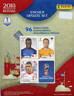 2018 SOCCER -  PANINI STICKERS UPDATE SET (96) -  2018 FIFA WORLD CUP RUSSIA