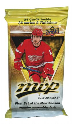 2019-20 HOCKEY CARDS -  UPPER DECK MVP FAT PACK (P34)