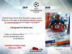 2019-20 SOCCER -  TOPPS FINEST UEFA CHAMPIONS LEAGUE (MB6/B2/C8)