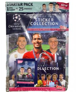 2019-20 SOCCER -  TOPPS UEFA CHAMPION LEAGUE STICKERS STARTER PACK (ALBUM + 20 STICKERS)