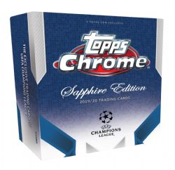 2019-20 SOCCER -  TOPPS UEFA CHAMPIONS LEAGUE CHROME SAPPHIRE EDITION HOBBY BOX