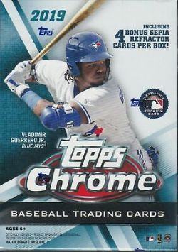 2019 BASEBALL -  TOPPS CHROME BLASTER BOX (P4/B7) + 1