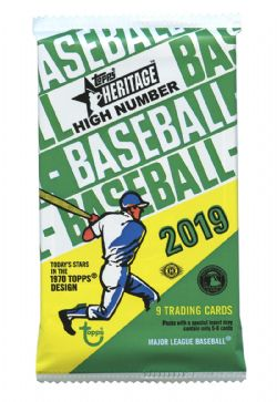 2019 BASEBALL -  TOPPS HERITAGE HIGH NUMBER (P9/B24), 1970 CARD DESIGN