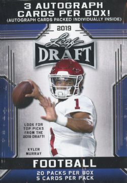 2019 FOOTBALL -  LEAF DRAFT PREMIUM BLASTER (B20P5 + 2)