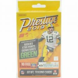 2019 FOOTBALL -  PANINI PRESTIGE FOOTBALL 60CT HANGER BOX