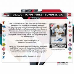 2020-21 SOCCER -  TOPPS BUNDESLIGA FINEST - HOBBY BOX