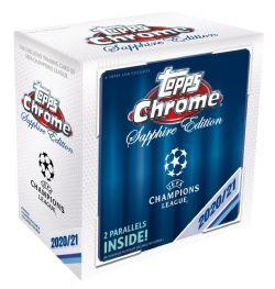 2020-21 SOCCER -  TOPPS UEFA CHAMPIONS LEAGUE CHROME SAPPHIRE - HOBBY BOX