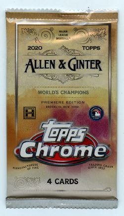 2020 BASEBALL -  TOPPS ALLEN & GINTER CHROME (P4/B18/C12)