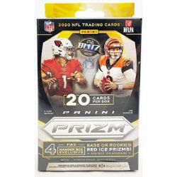 2020 FOOTBALL -  PANINI PRIZM - HANGER 20-CARD BOX (RED ICE PRIZMS)