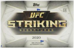 2020 UFC -  TOPPS STRIKING SIGNATURES