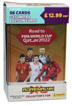 2021-22 SOCCER -  ADRENALYN XL ROAD TO WORLD CUP CARDS – CLASSIC TIN (56 CARDS + 2 LE)