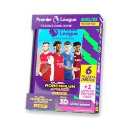 2021-22 SOCCER -  PANINI PREMIER LEAGUE ADRENALYN XL CARDS – MINI TIN (36 CARDS + JAMES WARD-PROWSE 3D LENTICULAR LE CARD)