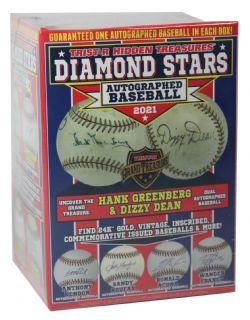 2021 BASEBALL -  TRISTAR HIDDEN TREASURES - DIAMOND STARS - AUTOGRAPHED BASEBALL