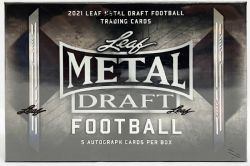 2021 FOOTBALL -  LEAF METAL DRAFT - HOBBY BOX