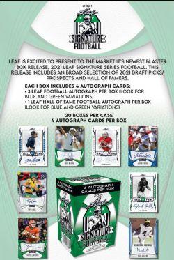 2021 FOOTBALL -  LEAF SIGNATURE - BLASTER BOX