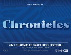 2021 FOOTBALL -  PANINI CHRONICLES DRAFT PICKS COLLEGIATE FOOTBALL HOBBY BOX - 2020 (P8/B6)