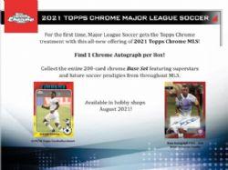 2021 SOCCER -  TOPPS MAJOR LEAGUE SOCCER (MLS) - CHROME (P4/B18)