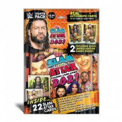 2021 WWE -  TOPPS - STARTER PACK (SOFT COVER ALBUM + 22 CARDS) -  SLAM ATTAX