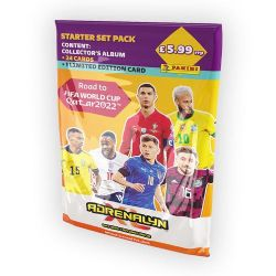 2022 SOCCER -  ADRENALYN XL ROAD TO WORLD CUP CARDS – STARTER PACK (ALBUM & 24 CARDS + 1 LE)