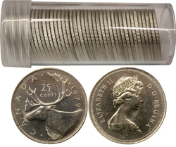 25-CENT -  1979 25-CENT - 40 COINS PACK - BRILLIANT UNCIRCULATED (BU) -  1979 CANADIAN COINS