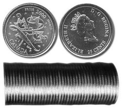 25-CENT -  2000 25-CENT ORIGINAL ROLL - PRIDE -  2000 CANADIAN COINS 01
