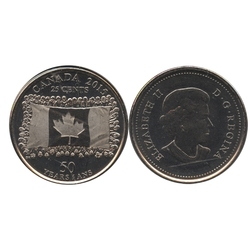 25-CENT -  2015 25-CENT - CANADIAN FLAG - BRILLIANT UNCIRCULATED (BU) -  2015 CANADIAN COINS