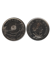 25-CENT -  2015 25-CENT - IN FLANDERS FIELDS - BRILLIANT UNCIRCULATED (BU) -  2015 CANADIAN COINS