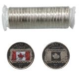 25-CENT -  2015 25-CENT ORIGINAL ROLL - CANADIAN FLAG -  2015 CANADIAN COINS